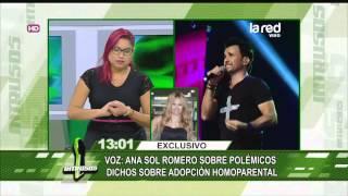 Ana Sol Romero aclara su opinión sobre la adopción homoparental