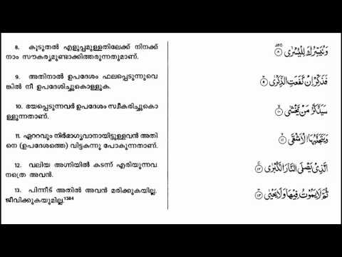 Quran Translation In malayalam