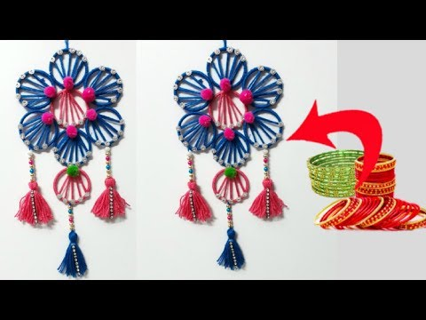how to make wall hanging from old bangles tagged videos on TrendyVids