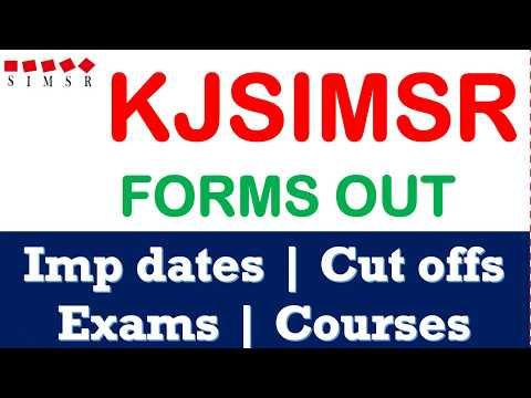 KJ Somaiya Forms out - Important Dates, Courses, Cut offs, Average package