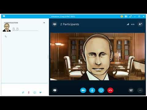 Поздравление с днём рождения для Людмилы от Путина по скайпу