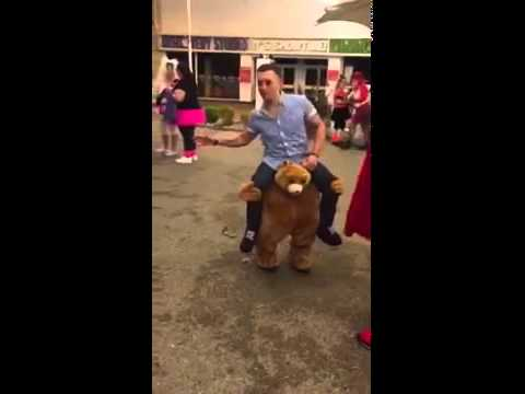 sc 1 st  YouTube & Epic Costume - Man Riding On Shoulders of Bear - YouTube