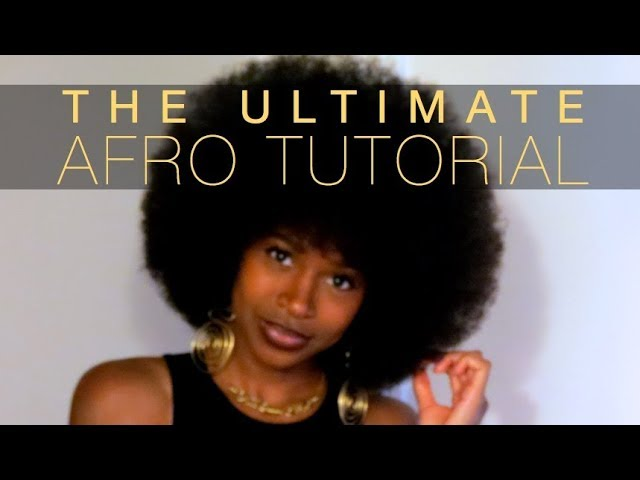Erica LeShai | The Ultimate AFRO Tutorial | Quick & Easy for Beginners