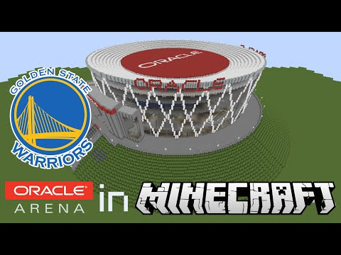 Minecraft MEGABUILD : Oracle Arena in Minecraft (Home of the Golden State Warriors)