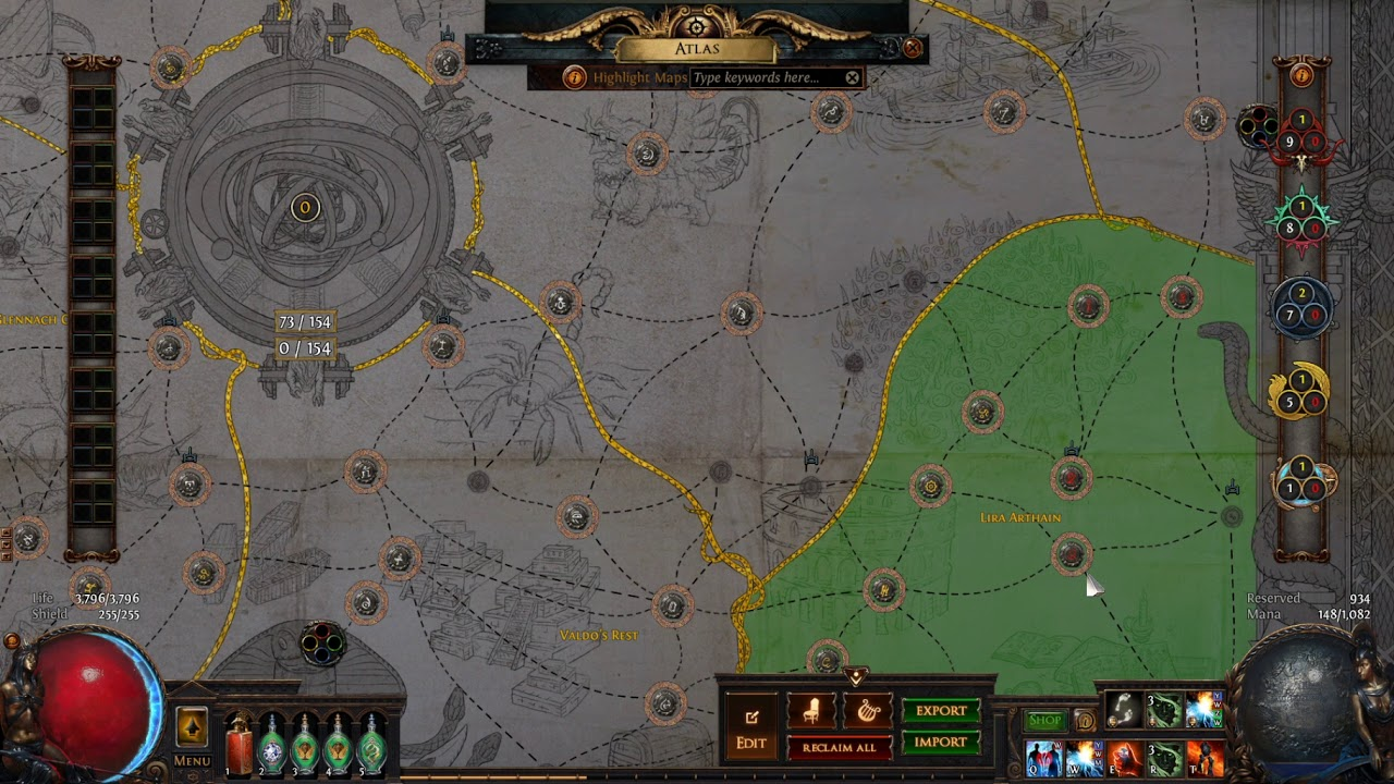 Path Of Exile What I Ve Learned So Far About The 3 9 Atlas Mechanics Breaking Out Of White Maps