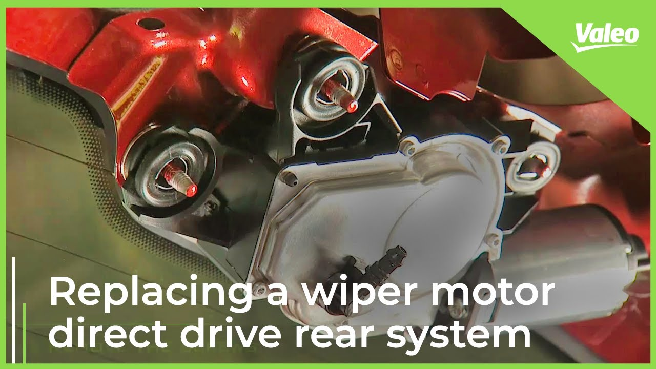 replace a valeo wiper motor direct drive rear system easily  [ 1280 x 720 Pixel ]
