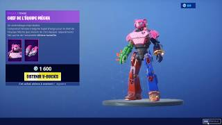 BOUTIQUE 19 JULY 2019 FORTNITE BATTLE ROYAL - NEW SKIN CHEF OF EQUIPE MECHA - ITEM SHOP 19/07