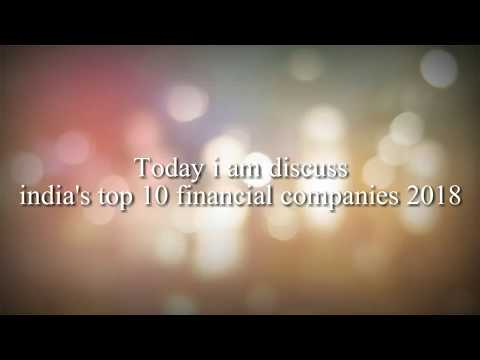 Top  10 Financial companies in India 2018