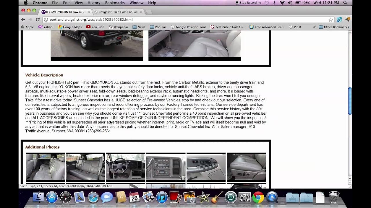 Craigslist portland oregon used cars and ford and dodge trucks