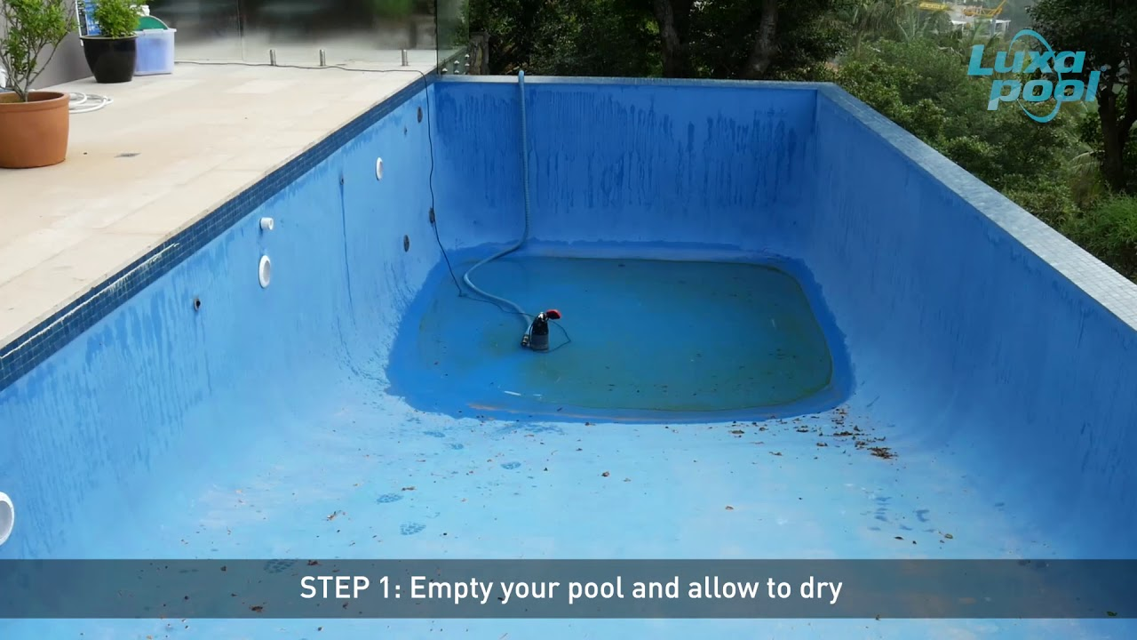 Paint your Pool with LUXAPOOL Epoxy Pool Paint How to test your pool coating