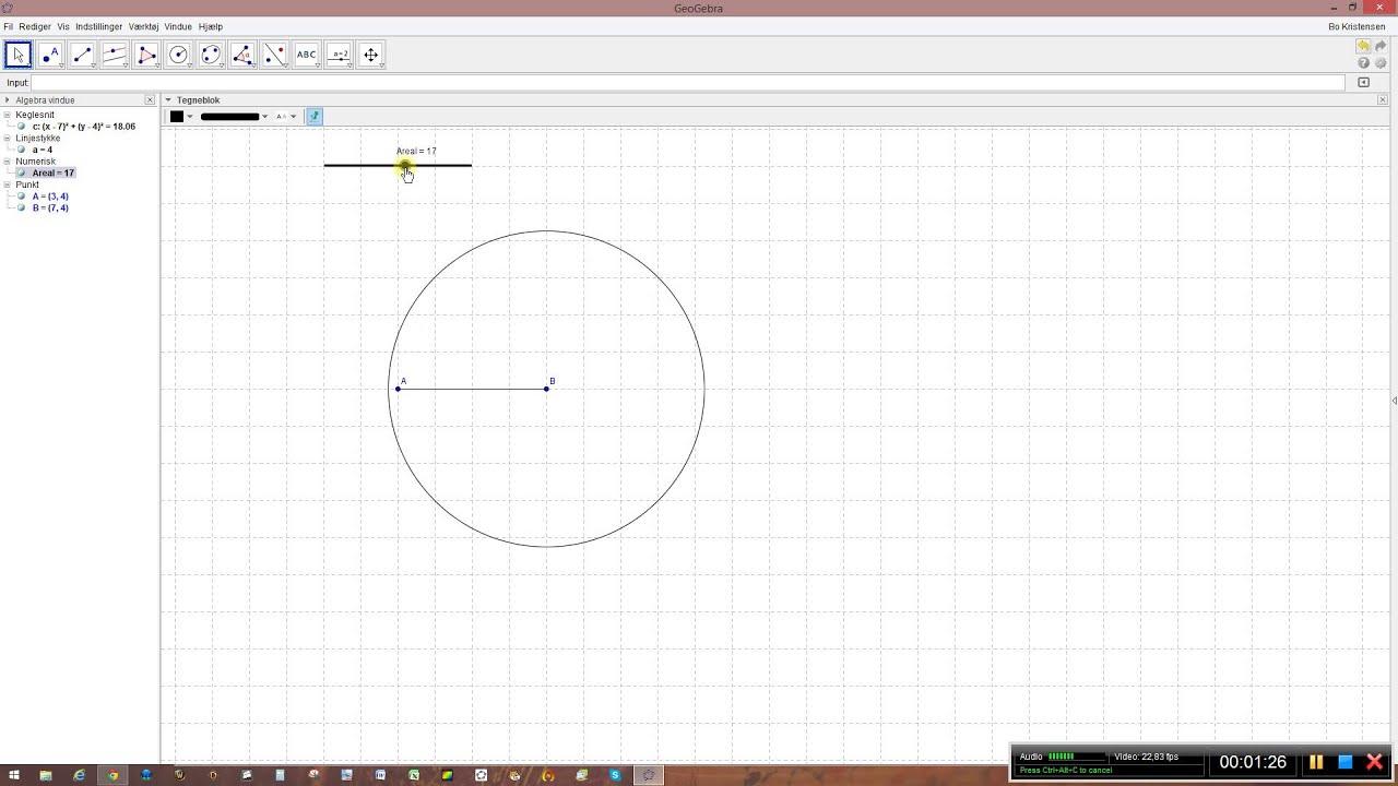 Parallelogram ud fra areal og grundlinje