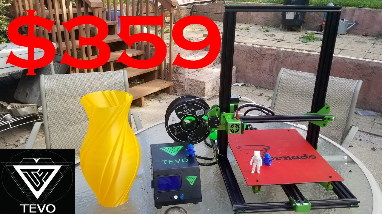 TEVO Tornado 3D Printer Unboxing and Review  Better than the CR-10?