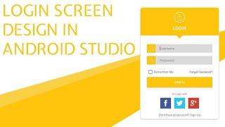 Login Screen UI design in Android Studio (With Source Code)