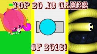 Top 20 Best .io Games of 2016!