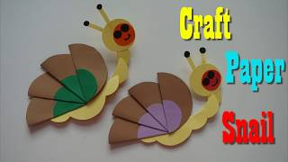 Craft paper Snail for kids  ||  How to make a paper Snail