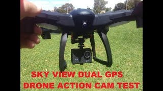 KMART SKY VIEW DUAL GPS DRONE ACTION  CAM TEST