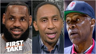Stephen A. disagrees with Dr. J leaving LeBron off of his top two all-time NBA teams | First Take
