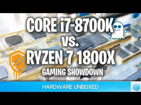 Ryzen 7 1800X vs  Core i7 8700K, Meltdown & Spectre Updates