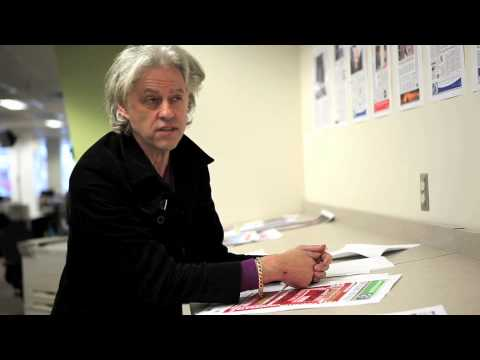 Bob Geldof on guest editing The Globe and Mail