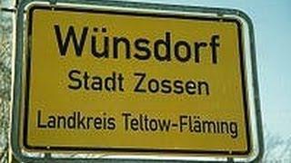 Wunsdorf-Вюнсдорф: уникальный клип о городке. 1994 год.