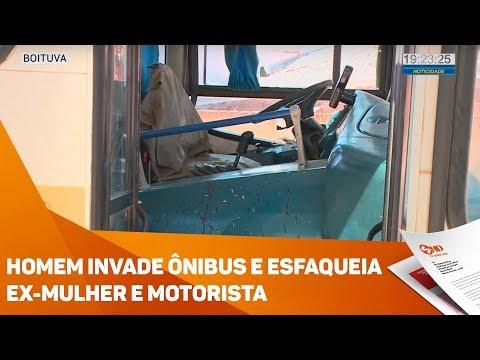 Homem invade ônibus e esfaqueia ex-mulher e motorista - TV SOROCABA/SBT