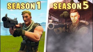 Evolution of the entire Fortnite Battle Royale