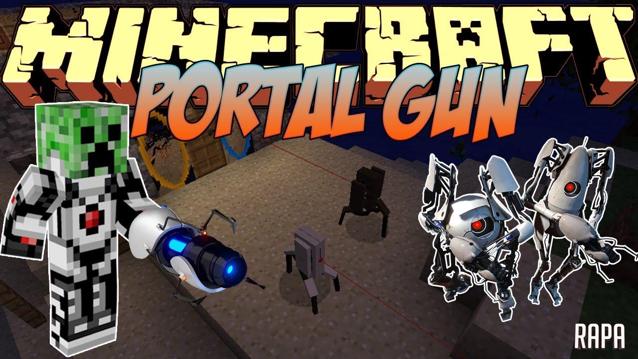 Мод portal gun для minecraft 1. 8. 9.
