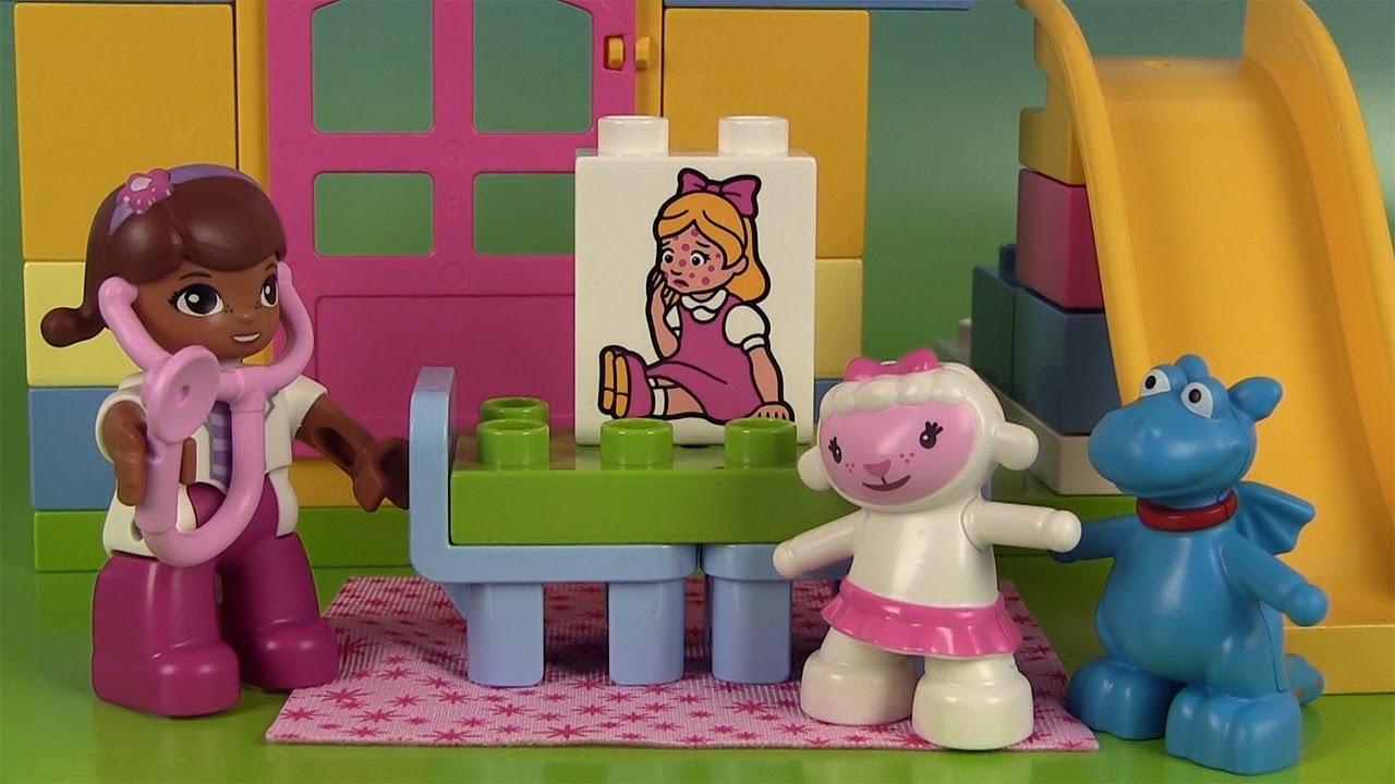 docteur la peluche lego duplo clinique doc mcstuffins lego backyard clinic jeu de construction. Black Bedroom Furniture Sets. Home Design Ideas