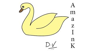 Learn How To Draw a Swan