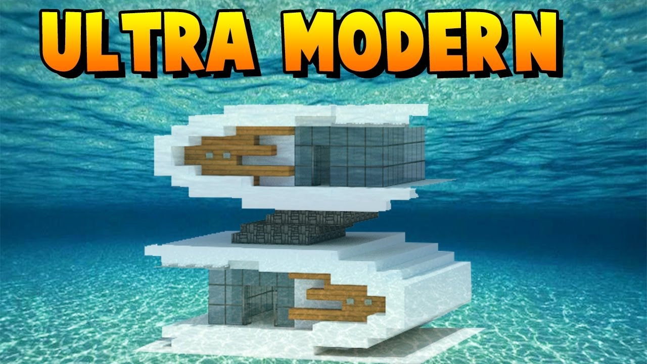 Minecraft How To Build An Ultra Modern House Tutorial