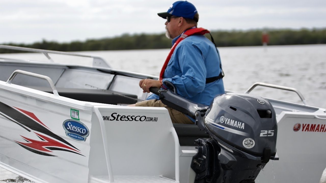 New Yamaha F25 with Steve 'Starlo' Starling