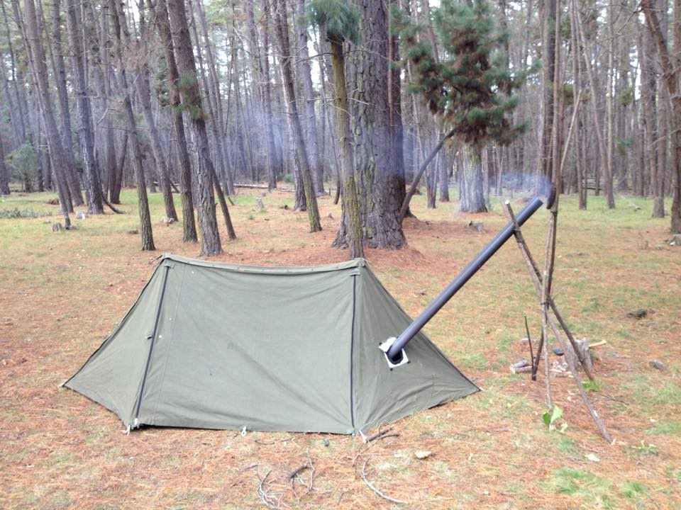 & Pup Tent Modifications - Bushcraft Shelter Hot Tent - YouTube