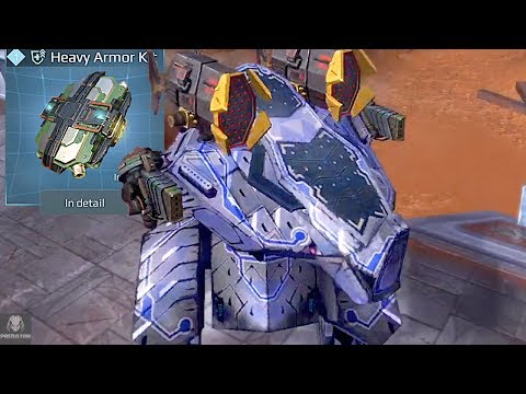 Armored – Up Rhino Smashes Through Enemies | Heavy Robot Brawling | War Robots