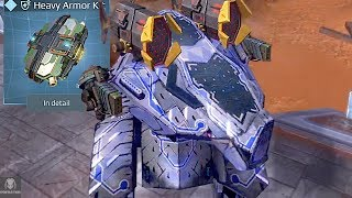 armored up rhino smashes through enemies heavy robot brawling war robots