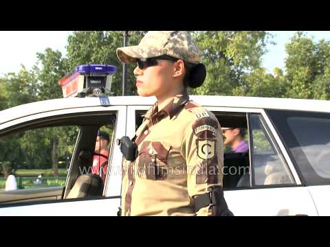 Woman commando Chiewelou Thele from Nagaland in Delhi Police uniform