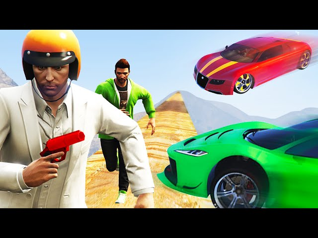 HIT THE SCARED RUNNERS! (GTA 5 Funny Moments)
