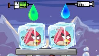 Unfreeze Angry Birds - DRAW COLOR WATER WAY TO RESCUE FROZEN BIRDS!