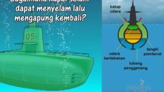 Bagaimana kapal selam bisa menyelam lalu mengapung kembali?