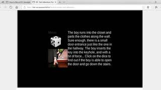 Video of Funeral Mystery Text Adventure Game