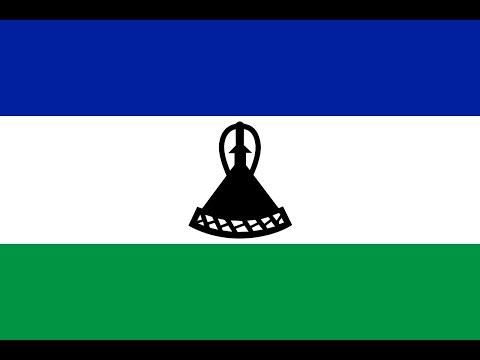 Флаг Лесото.