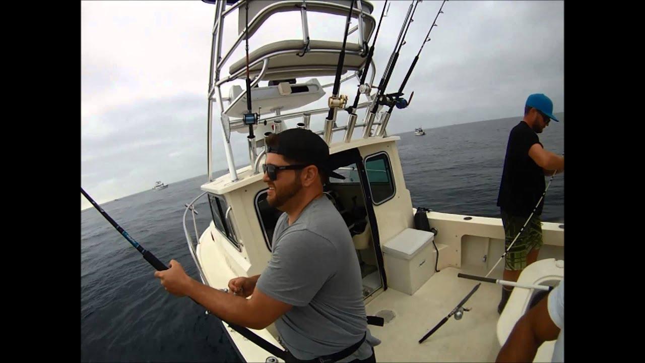 Blue fin tuna caught deep sea fishing youtube for Deep sea fishing dana point
