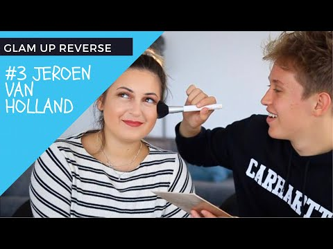 JEROEN V HOLLAND DOET MIJN MAKEUP: GLAM UP REVERSE - MAKEUPARTISTFADIM