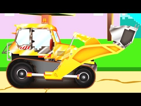 Bulldozer | Pipo and his tow truck | Cartoon for children like Minecraft