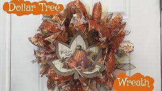 Dollar Tree Fall Wreath DIY Tutorial