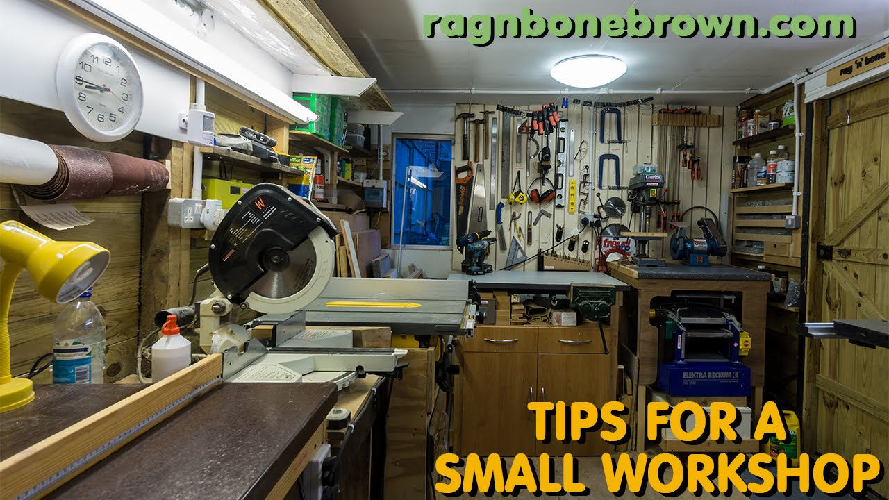 5 Tips For A Small Wood Workshop - making the most of your space - YouTube