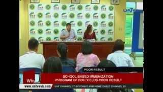 School-based immunization program of DOH yields poor result