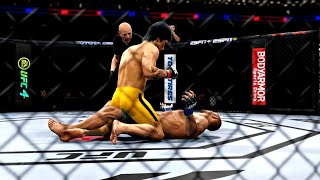 BRUCE LEE VS DAN HENDERSON | UFC 4 BRUTAL FIGHT | UFC 4 K1 RULES | UFC 4 2020 | EA SPORTS UFC 4