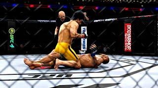 BRUCE LEE VS DAN HENDERSON | UFC 4 BRUTAL FIGHT | UFC 4 K1 RULES | UFC 4 2020 | EA SPORTS UFC 4