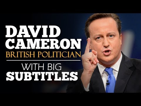 ENGLISH SPEECH | DAVID CAMERON: Brexit Referendum 2013 (English Subtitles)