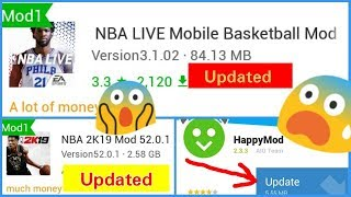 Gambar cover How to UPDATE Happy Mod-Download updated NBA Live & NBA 2K19
